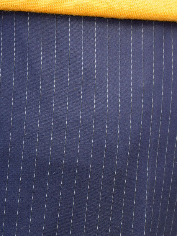 Get Up Navy Pinstripe Slim Fit Trousers