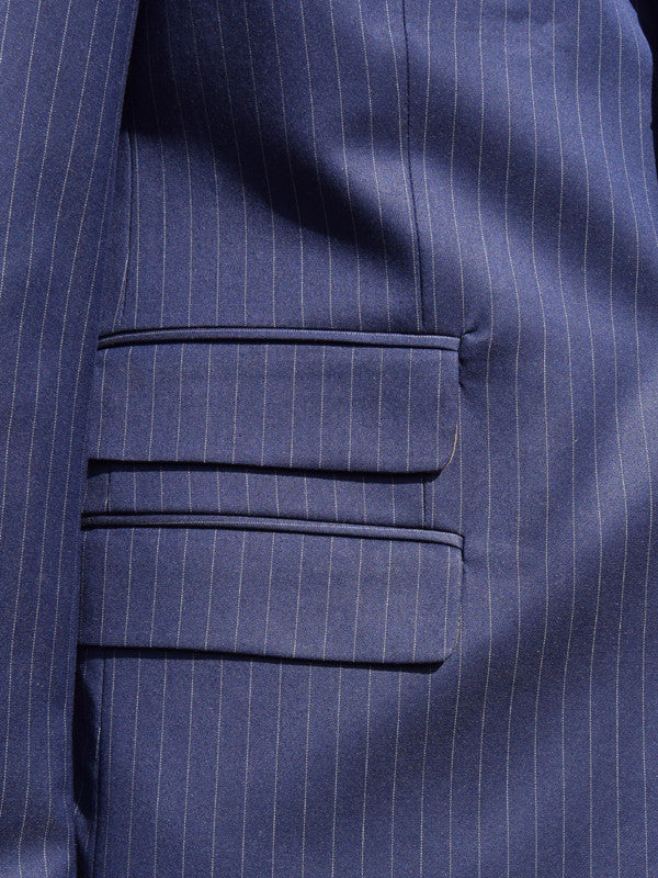 Get Up Navy Pinstripe Single Breasted Suit