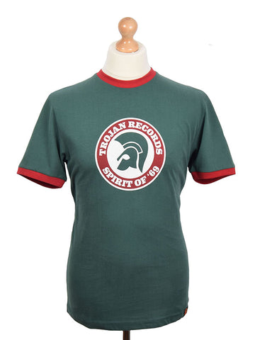 Trojan Records Forest Green Spirit Of '69 Logo T Shirt