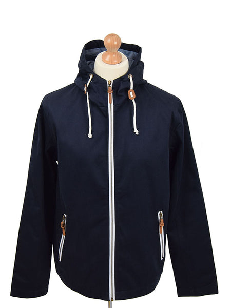 Real Hoxton Navy Hooded Jacket