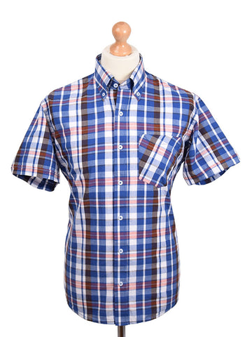 Real Hoxton Navy & Red Check Shirt