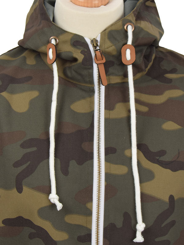 Real Hoxton Camouflage Hooded Jacket
