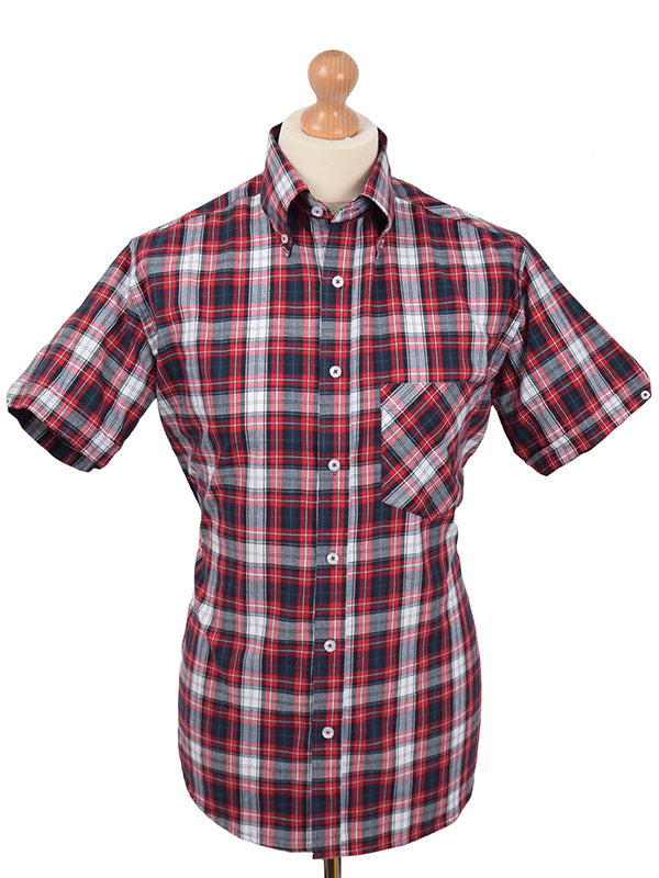 Real Hoxton Red White & Black Check Shirt
