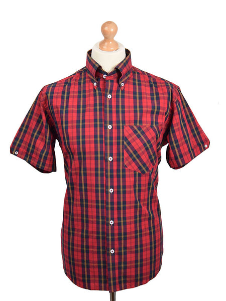Real Hoxton Red Tartan Shirt