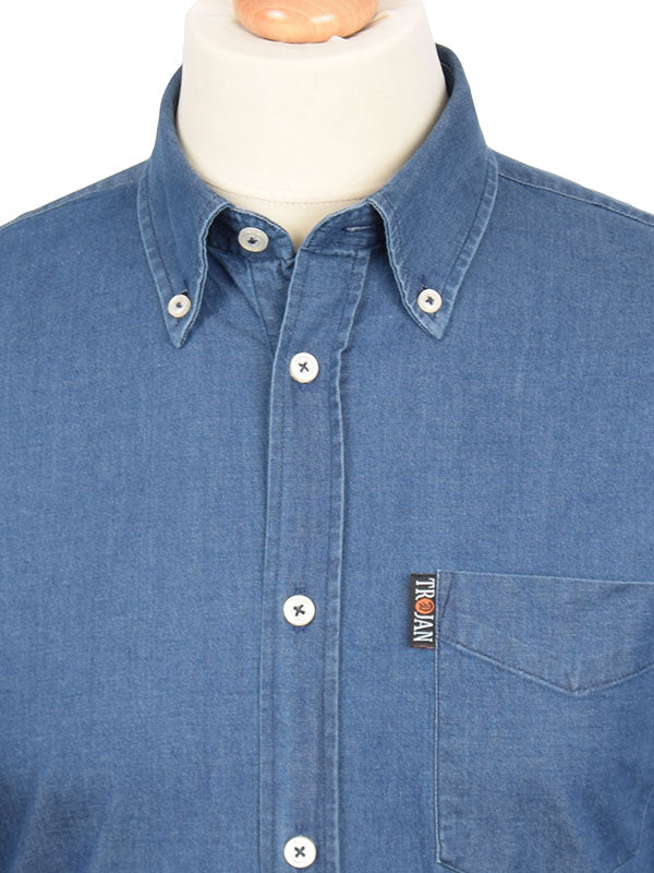 Trojan Records Indigo Denim Long Sleeve Shirt