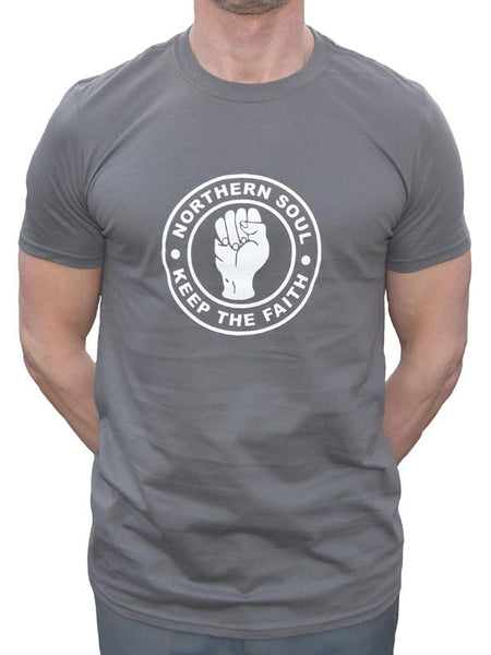 Keep The Faith Charcoal Grey T Shirt