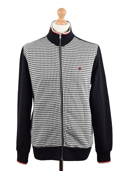 Merc Black Dogtooth Track Top