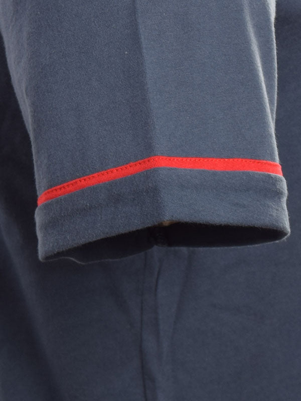 Merc Navy Contrast Tipped Polo