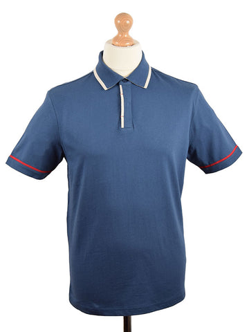 Merc Navy Tipped Polo