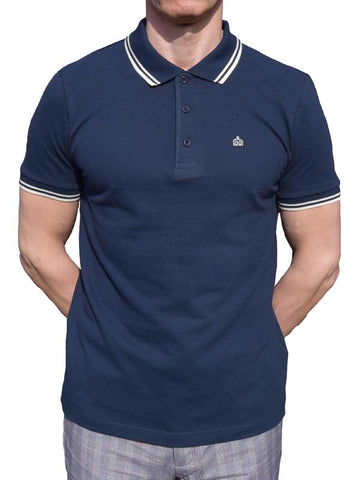Merc Navy Polo Shirt