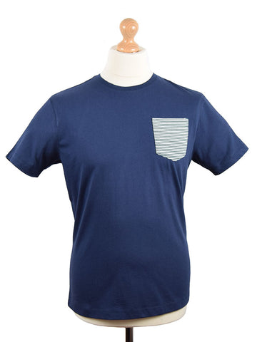 Merc Navy Pocket T Shirt