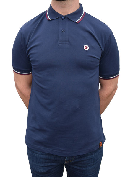 Trojan Records Classic Navy Tipped Polo Shirt