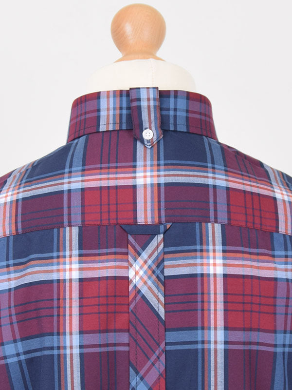 Trojan Records Dark Tartan Check Shirt With Handkerchief