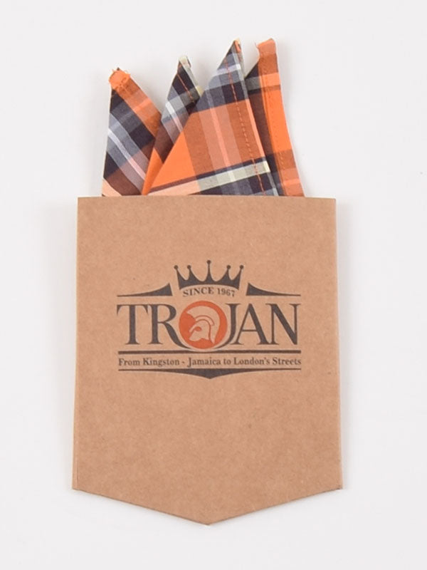 Trojan Records Orange Check Shirt With Handkerchief