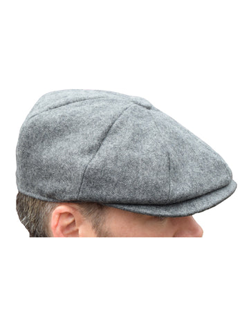 Peaky Blinders Grey Melton Wool Newsboy Cap