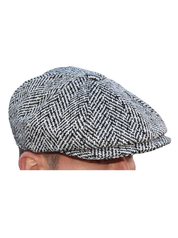 Peaky Blinders Black & White Humbug Newsboy Cap