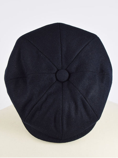 Peaky Blinders Navy Melton Wool Newsboy Cap