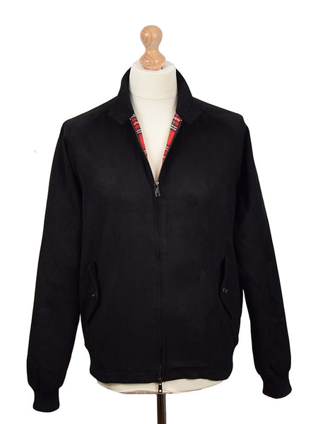 Phix Clothing Black Suedette Stretford Harrington Jacket