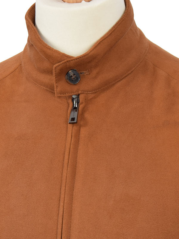 Phix Clothing Brown Suedette Stretford Harrington Jacket
