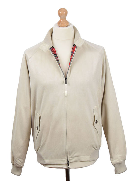 Phix Clothing Stone Suedette Stretford Harrington Jacket