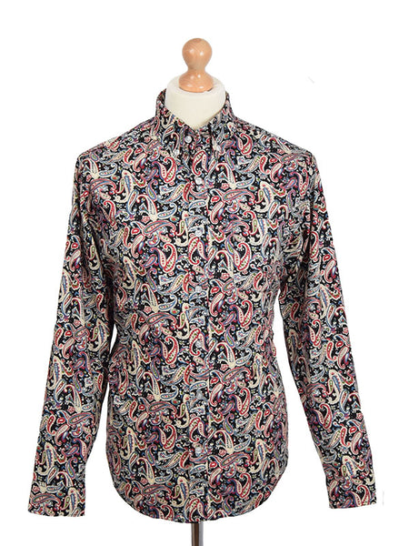 Pop Boutique Black Paisley Shirt