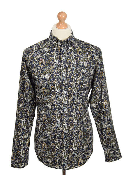 Pop Boutique Navy Paisley Shirt