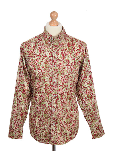 Pop Boutique Rust Paisley Shirt