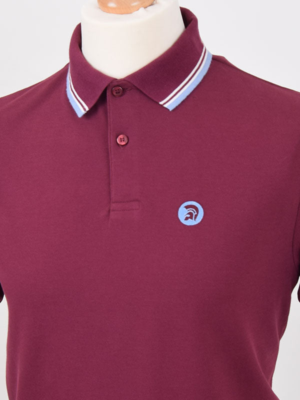 Trojan Records Port Tipped Signature Polo Shirt