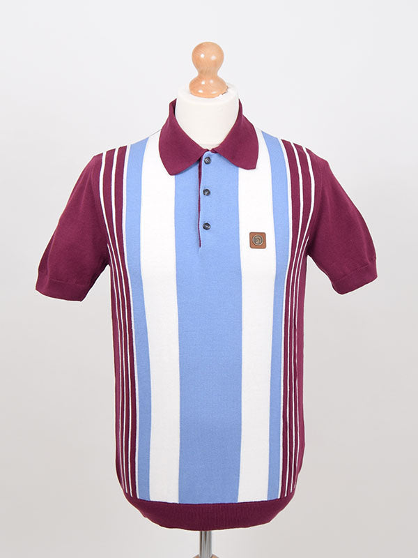 Trojan Records Port Front Stripe Polo Shirt