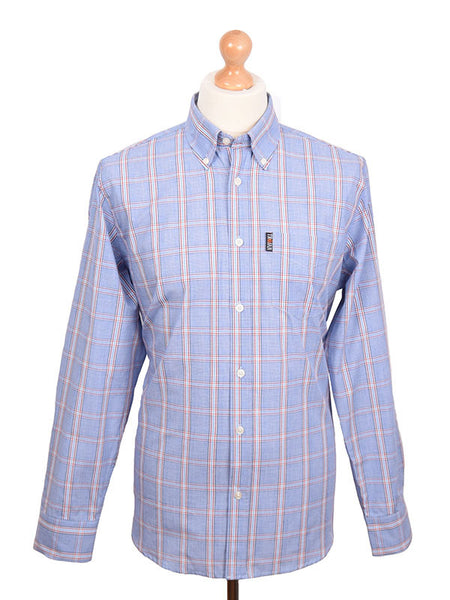 Trojan Records Blue Prince Of Wales Long Sleeve Shirt