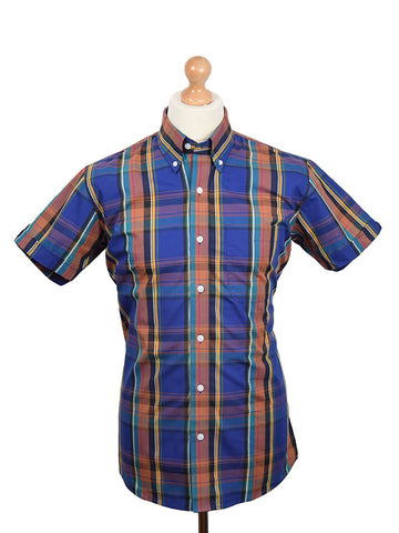 Relco Purple Check Shirt