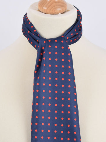 Soho Scarves Navy & Red Polka Dot Scarf