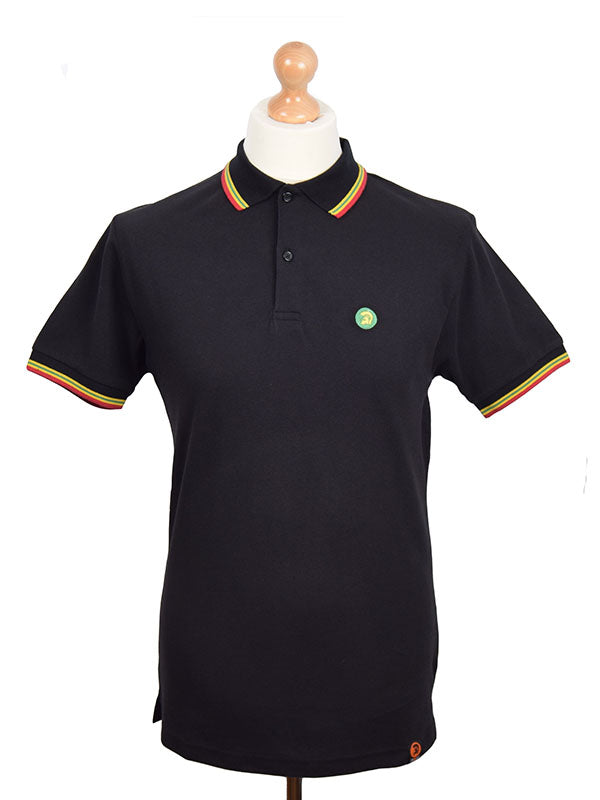 Trojan Records Rasta Tipped Signature Polo Shirt