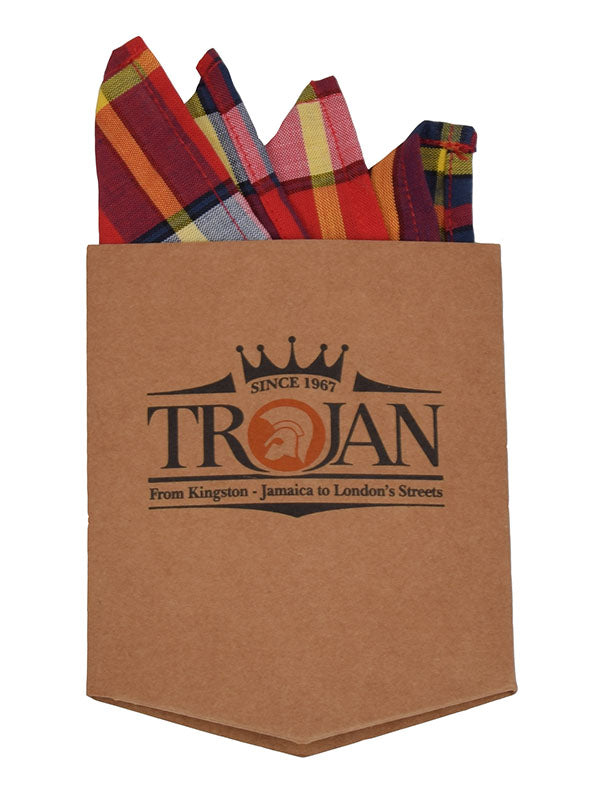 Trojan Records Blood Madras Shirt With Handkerchief