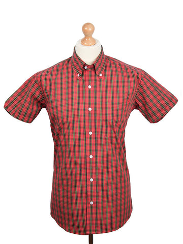 Relco Red & Yellow Tartan Check Shirt