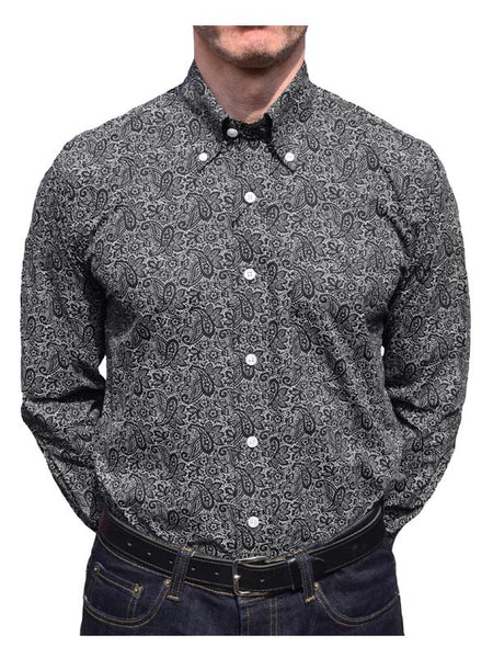 Relco Black & White Paisley Shirt