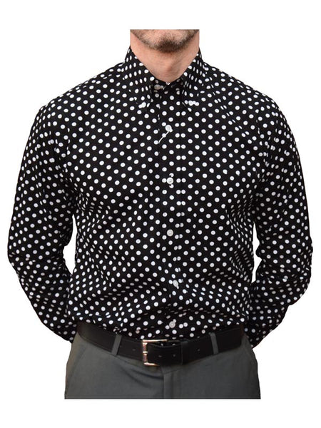Relco Black & White Polka Dot Shirt