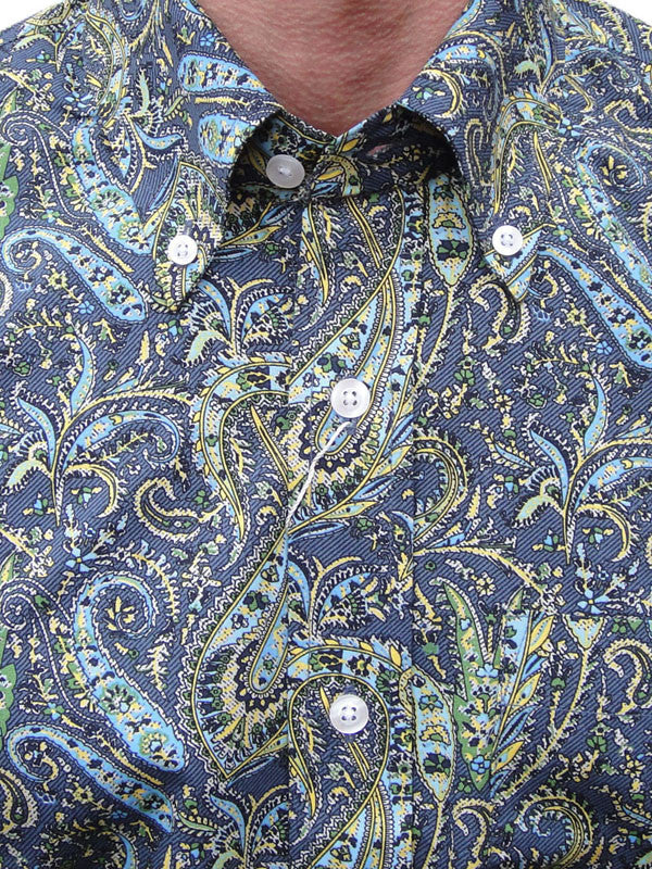 Relco Blue & Green Paisley Shirt