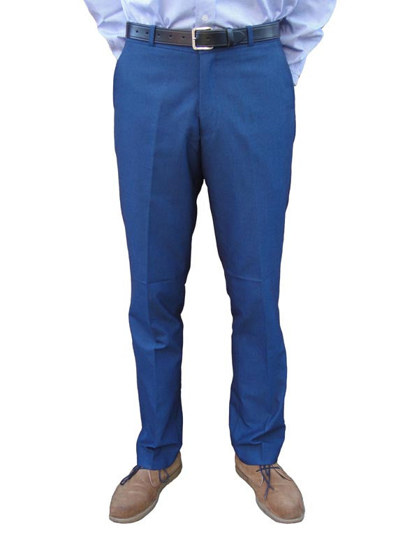 Relco Blue Tonic Sta Press Trousers