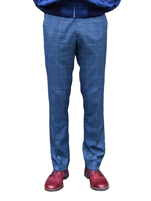 Relco Blue Tweed Sta Press Trousers