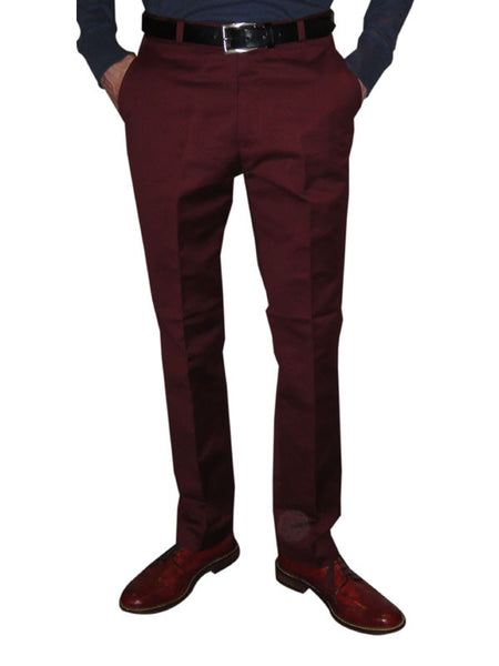 Relco Burgundy Sta Press Trousers