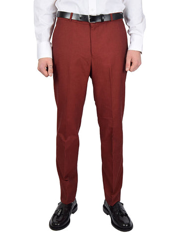 Relco Burgundy & Black Tonic Sta Press Trousers