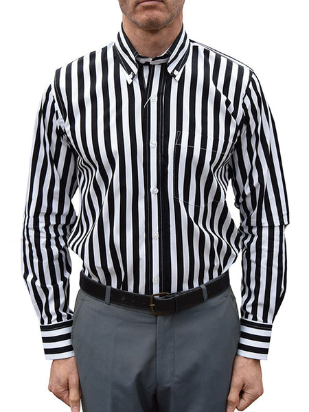 Relco Black & White Candy Stripe Shirt
