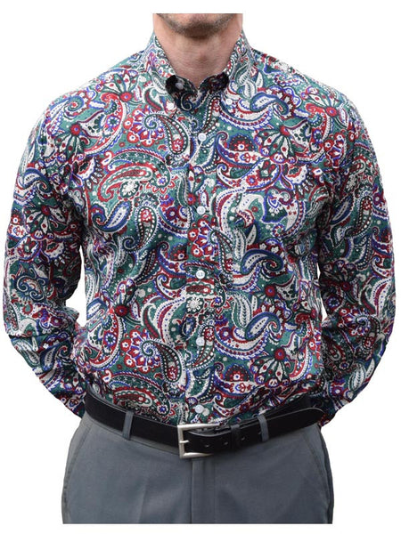 Relco Green & Red Paisley Shirt