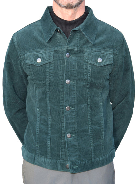 Run & Fly Forest Green Corduroy Western Jacket