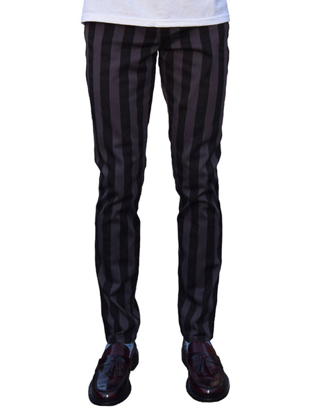 Run & Fly Black & Grey Candy Stripe Jeans