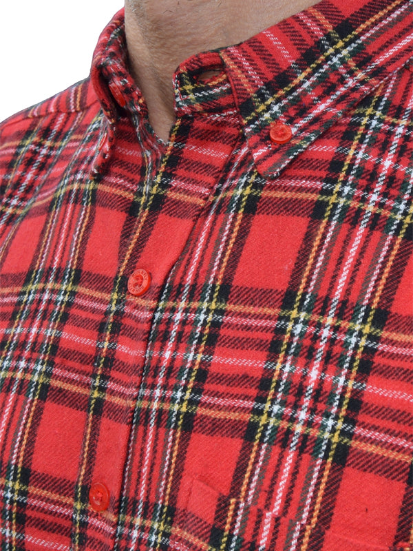 Run & Fly Red Tartan Flannel Shirt