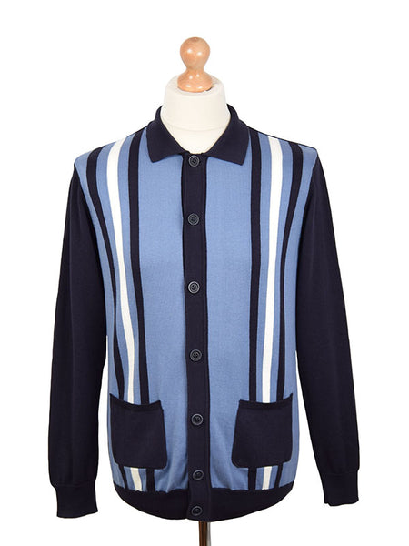 Ska & Soul Blue & Navy Striped Cardigan