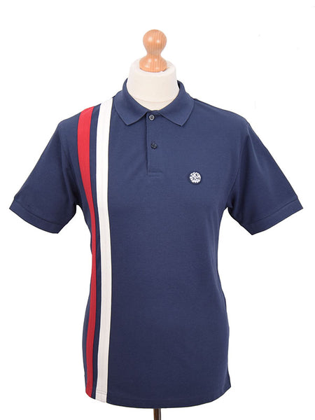 Ska & Soul Navy Racing Stripes Polo