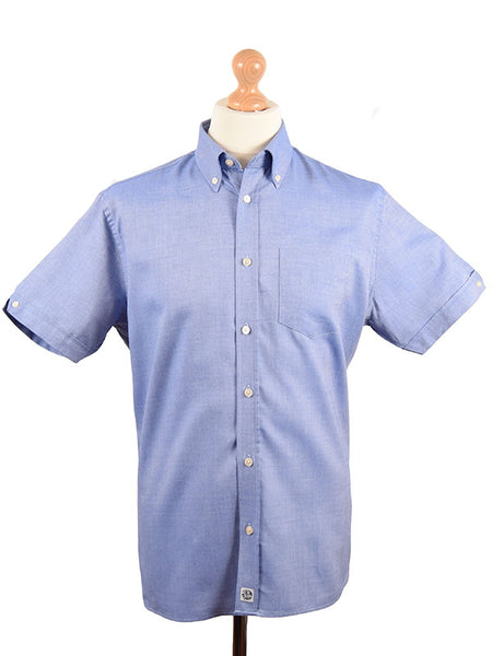 Ska & Soul Blue Oxford Button Down Shirt